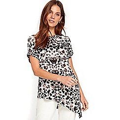 Wallis - Animal print asymmetric top