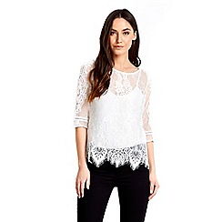 Wallis - Ivoy lace shell top