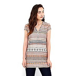 Wallis - Aztec print zip tunic top