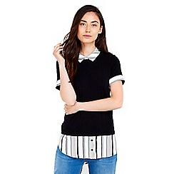 Wallis - Stripe short sleeve 2in1 top