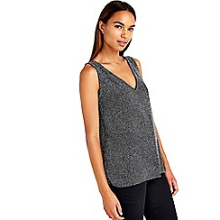 Wallis - Silver sparkly vest top