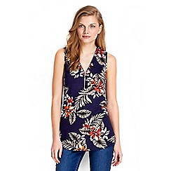 Wallis - Palm print sleeveless shell top