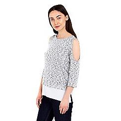 Wallis - Grey cold shoulder 2in1 top