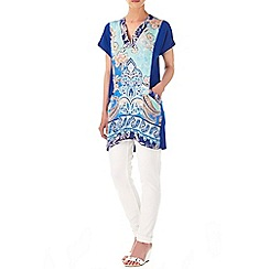 Wallis - Blue paisley pocket tunic