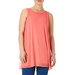 Wallis - Coral split side tunic top