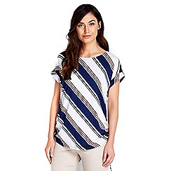 Wallis - Striped drawcord top