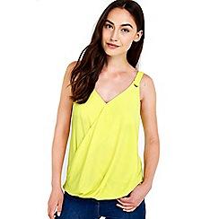 Wallis - Lime wrap camisole