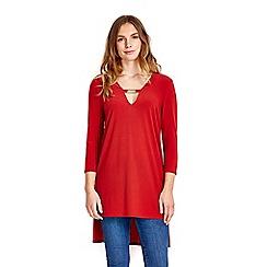 Wallis - Orange long sleeve tunic top