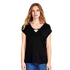 Wallis - Black sleeveless top