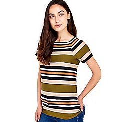 Wallis - Khaki stripe shell top