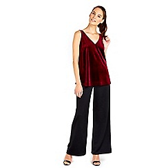 Wallis - Berry velvet camisole top