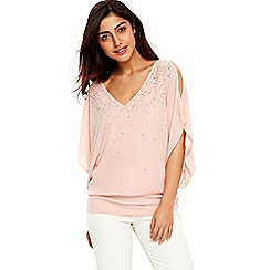 Wallis - Pink embelished sparkle top
