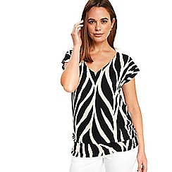 Wallis - Zebra print v neck blouson
