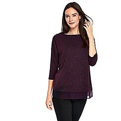 Wallis - Purple sparkle layered top