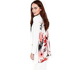 Wallis - White floral shrug