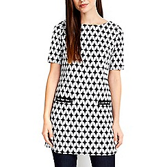 Wallis - Monochrome jacquard tunic top