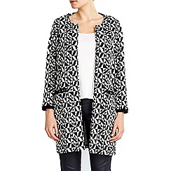 Wallis - Monochrome printed jacquard jacket