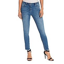 Wallis - Ellie blue frayed hem skinny jeans