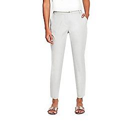 Wallis - Grey belted cigarette trousers