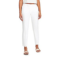 Wallis - White belted cigarette trousers
