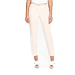 Wallis - Pink belted cigarette trousers