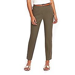 Wallis - Khaki belted cigarette trousers