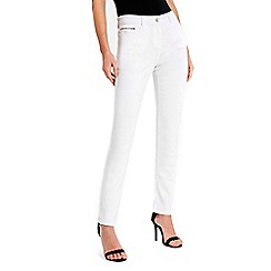 Wallis - White harper straight jeans