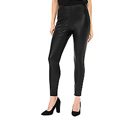 Wallis - Black faux leather leggings