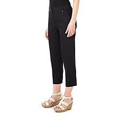 Wallis - Black cotton strech crop trousers