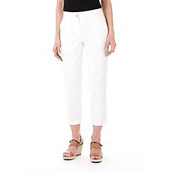 Wallis - White seam pocket crop trouser