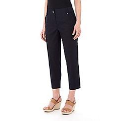 Wallis - Navy seam pocket crop trouser