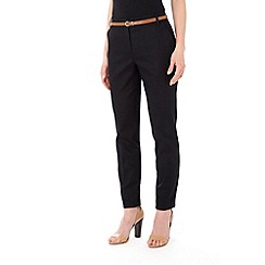 Wallis - Black belted cigarette trouser