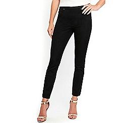 Wallis - Black side zip skinny trousers