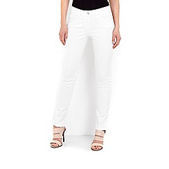 Wallis - White twill straight leg jean
