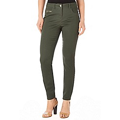 Wallis - Khaki zip pocket trouser