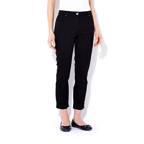 Wallis - Black roll up jeans
