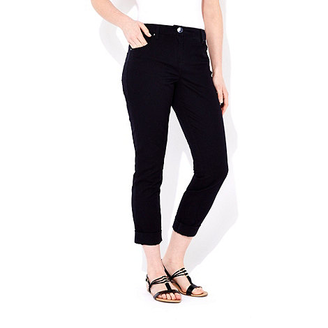 Wallis - Navy blue roll up jeans