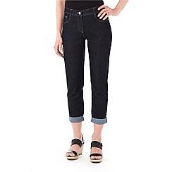 Wallis - Indigo denim roll up jeans