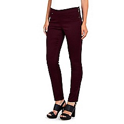 Wallis - Berry zip trouser