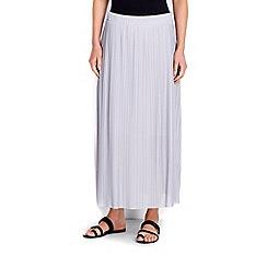 Wallis - Grey pleated maxi skirt