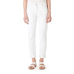 Wallis - White roll up trousers