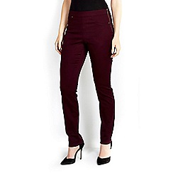 Wallis - Berry slim leg trouser