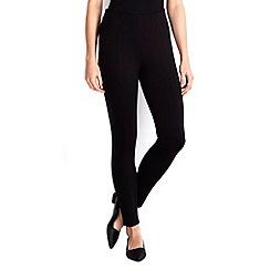 Wallis - Black multistitch ponte legging