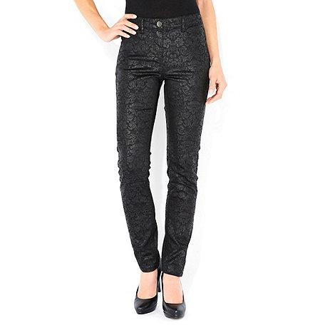 Wallis - Black baroque skinny jeans
