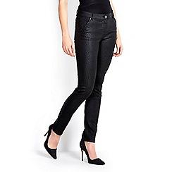 Wallis - Black snake print slim jean