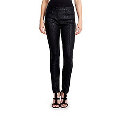 Wallis - Black baroque print jean
