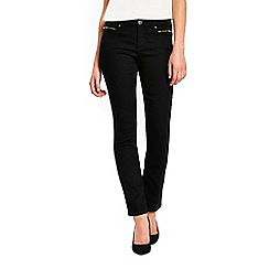 Wallis - Black harper straight jeans