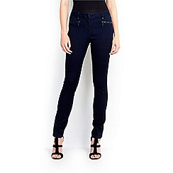 Wallis - Indigo denim zip front skinny