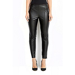 Wallis - Leather look pull on legging