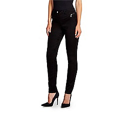 Wallis - Black fly front tinseltown
